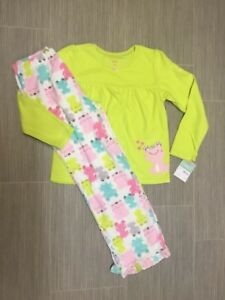 Carter's NWT 8 10 Frog Pajamas Set top & bottoms pants