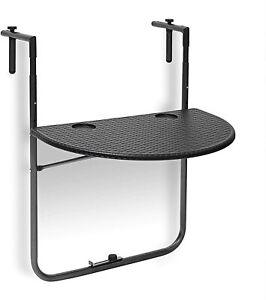 Relaxdays 10020054_46 Table Pendant Of Balcony Folding, Black, 24 13/16x23
