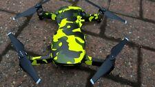 Fluorescent Yellow Camouflage Camo DJI Mavic Air Wrap / Skin / Decal UK made