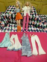 lot mannequin barbies 1998 habillées,chaussées   +pantalons vintages