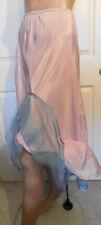 Vintage Pink Acetate Blue Net Half Slip Petticoat Florell Medium