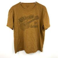 Lucky Brand T-Shirt XL Mens Nashville Guitars Graphic Crew Neck Short Sleeve