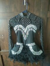 Black Feathered Dance Costume (Adult Women)