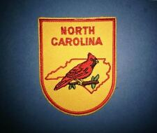 Vintage North Carolina Hat Jacket Biker Vest Backpack Travel Patch Crest A