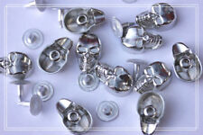 30pz Borchie teschio con rivetto argento16*9mm * Skull with loose rivet studs