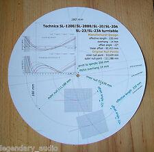 technics sl-1200/sl-2000/sl-20/sl-20a/sl-23/sl23a cartridge alignment winkelmesser