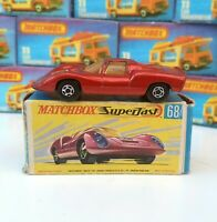 Matchbox Lesney No68 Porsche 910 Metallic Red Superfast