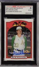 2005 Topps Fan Favorites Dick Williams Autographed Card #10 HOF