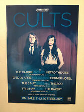 CULTS 2014 Australian Tour Poster A2 Static Abducted Laneway LILY ALLEN ATP *NEW