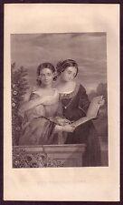 Antique Ladies Fashion Victorian Clothing Art Decor Engraving Print