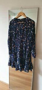 SABA Long sleeve shift print mini dress size 12 corporate