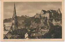 617147) AK Heidenheim a.d. Brenz Pauluskirche + Schloß Hellenstein gel. 1928
