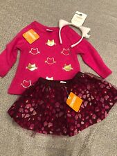 NWT Gymboree Girl pink gold cat leopard Tulle Skirt FALL 3-piece SET 12 18