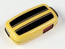 New Genuine VW OEM Beetle GSR Key Fob Cover Yellow Black Stripes Key Remote Case