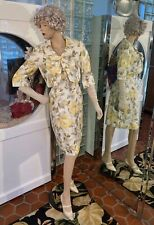Vtg 50s 60s Original Wiggle Dress w Crop Jacket Perfect Rockabilly Summer Nos sm