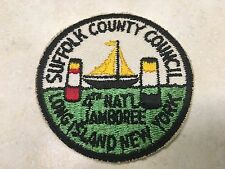 1957 National Jamboree Suffolk County Council Contingent Patch JCP