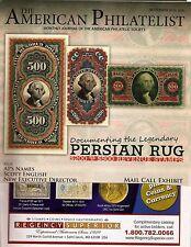 AMERICAN PHILATELIST Sept 2015 Persian Rug Revenue, St Lucia, Egypt, Pennsly.