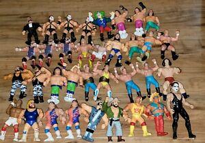 WWF HASBRO LOT WCW GALOOB WWE MATTEL ELITE LOT AEW HUGE RARE FIGURES NXT *READ*