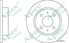 1x OE Quality Replacement Front Axle Apec Solid Brake Disc 4 Stud 240mm - Pair