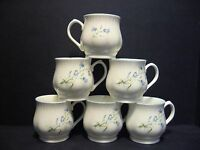 Set of 6 Harebell Bulbous English Fine Bone China Mugs Cups By Milton China
