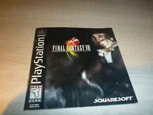 Final Fantasy VIII Manual Only Playstation 1  Squaresoft