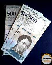 Venezuela 500 Bolivares X 5 Pieces (five pieces)  P-NEW, UNC