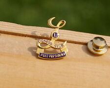 Lioness Club International Past President 1/20 10K G.F. Gold Filled Pin Pinback