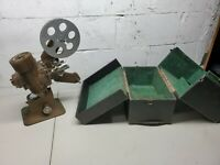 """Very Rare Toei Motion Picture Projector """"The Bell"""" Model 12 W/ Voltmeter & Case"""