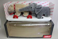 SCHUCO SPIELSET #09081 BEAR on Wheels & ELEPHANT in Original Box