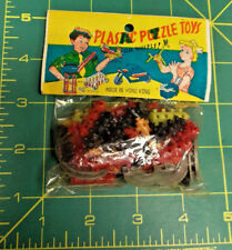 Vintage Unused Unopened Plastic Puzzle Toy from around 1960s New Old Stock  NOS