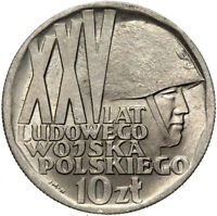 Polen - Gedenkmünze - 10 Zlotych 1968 - XXV 25 JAHRE VOLKSARMEE - Polish Army