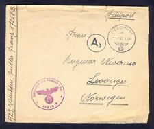 Germany(Norway), 1944, Rare fieldpost cover in Norvegian from front with cancels