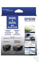 Genuine Epson 254XL & 252XL 4-ink Value Pack For WF-3620/3640,WF7610,7620