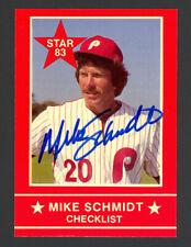 Mike Schmidt 1983 Star Schmidt #1 - Phillies - Signed Autograph Auto - Mint