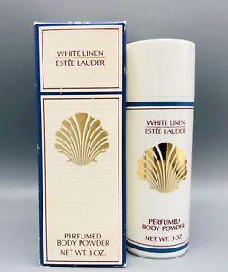Estee Lauder White Linen Perfumed Body Powder Shaker Rare 3 oz VINTAGE HTF