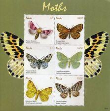 Nevis Stamps 2018 MNH Moths Pease Blossom Brimstone Moth Butterflies 6v M/S