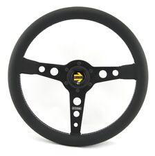 MOMO de cuero volante deportivo prototipo 350mm negro Black Steering Wheel volante