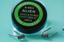 10x Alien-Clapton-Coils 0.45 Ohm FLAT 32GA Kanthal A1 Aliencoils