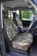 Land Rover Discovery Series 2 Front Green Camo Tailored Waterproof Seat Covers