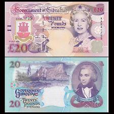 Gibraltar 20 Pounds, 1995, P-27, AA prefix, banknote, UNC