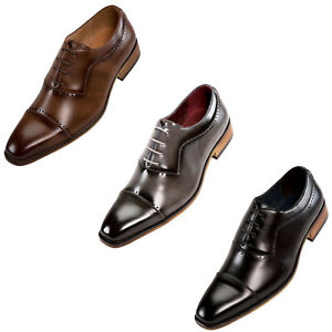 Mens Dress Shoes - Oxford Shoes for Men - Lace Up Formal Shoes with Cap Toe