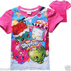 Girls SHOPKINS tshirt top short sleeve T-shirt clothing size 3 4 6 8 new in AU
