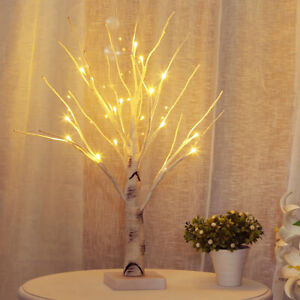 18 LED Birch Twig Tree Branches Lamp Night Light Home Party Wedding Xmas Decor
