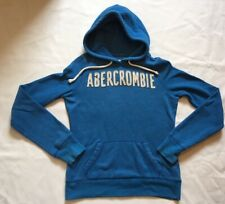 Womens Abercrombie And Fitch Blue Hoodie Sweatshirt Size Small