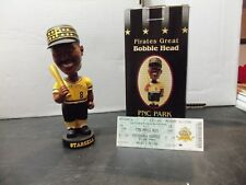 Pittsburgh Pirates Willie Stargell 2002 Bobblehead PNC Park SGA with game ticket