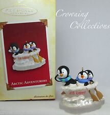 2005 Hallmark Arctic Adventurers Keepsake Ornament Penguins at Play Adventures