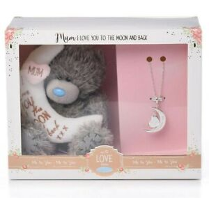 NEW Me to You Tatty Teddy Bear Love You to the Moon & Back Plush & Necklace Gift