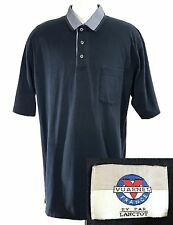 Vintage Vuarnet France Navy Blue Polo 100% Cotton Par Lanctot sz Medium VTG 90's