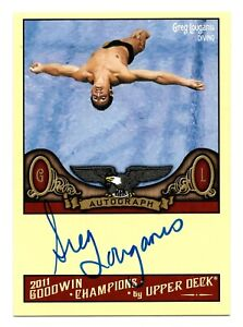 2011 Goodwin Champions Authentic Autograph Greg Louganis Olympic Diving HOF