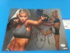 Paige VanZant Sexy  UFC MMA 11x14 PHOTO Signed PSA/DNA COA
